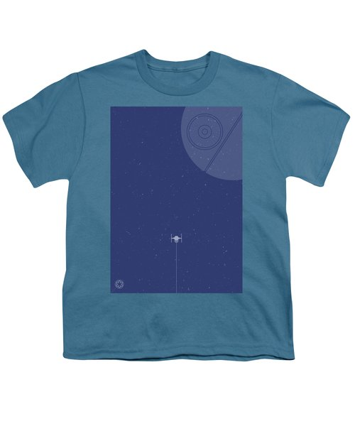 Tie Fighter Defends The Death Star Youth T-Shirt