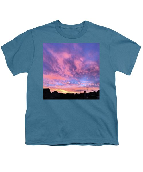 Tonight's Sunset Over Tesco :) #view Youth T-Shirt by John Edwards