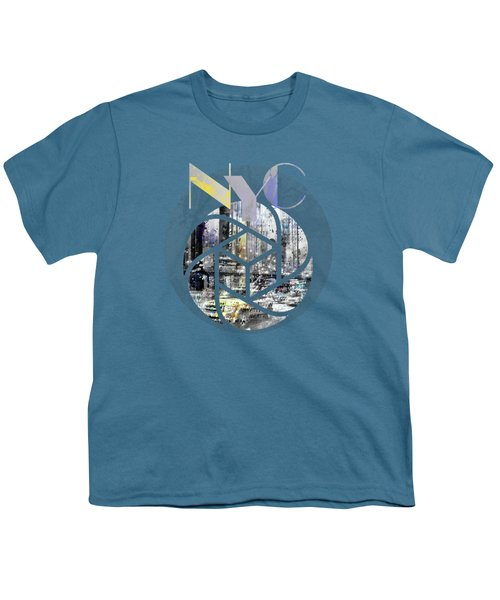 Trendy Design New York City Geometric Mix No 4 Youth T-Shirt by Melanie Viola