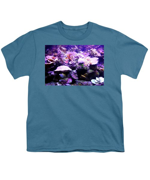 Youth T-Shirt featuring the photograph Tropical Aquarium by Francesca Mackenney
