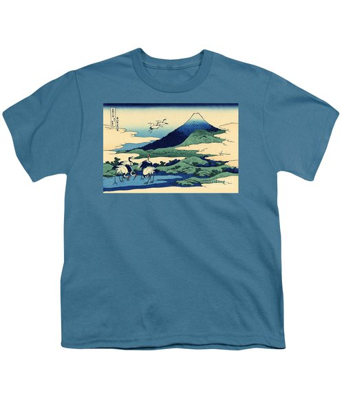Umegawa In Sagami Province, One Of Thirty Six Views Of Mount Fuji Youth T-Shirt by Hokusai
