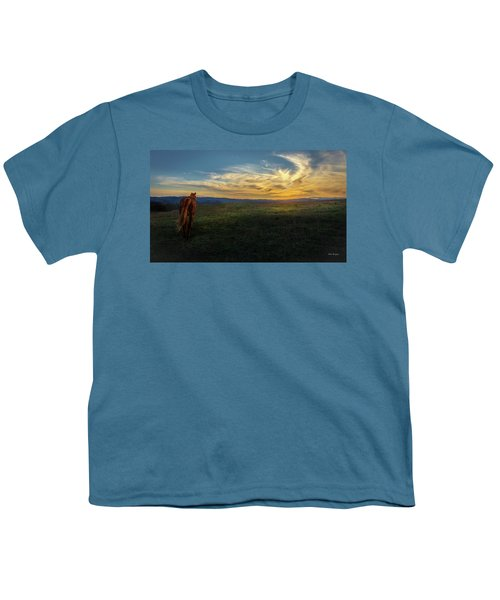 Under A Bright Evening Sky Youth T-Shirt