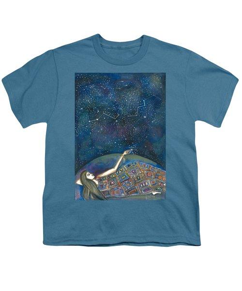 Youth T-Shirt featuring the mixed media Universal Magic by Prerna Poojara