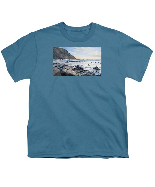 Youth T-Shirt featuring the painting Warren Point Sunset Duckpool by Lawrence Dyer