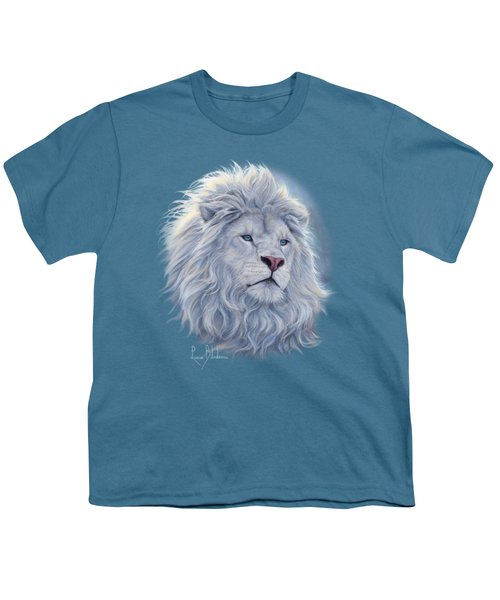 White Lion Youth T-Shirt by Lucie Bilodeau