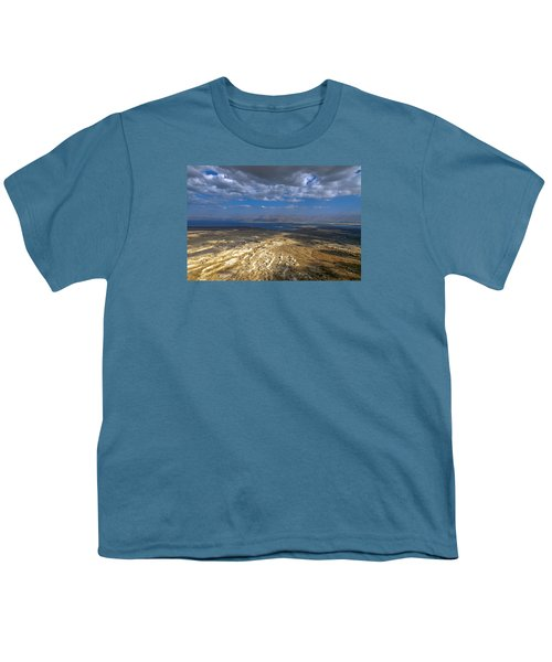 Wide View From Masada Youth T-Shirt by Dubi Roman