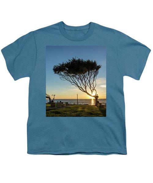 Wind Blown Tree Youth T-Shirt