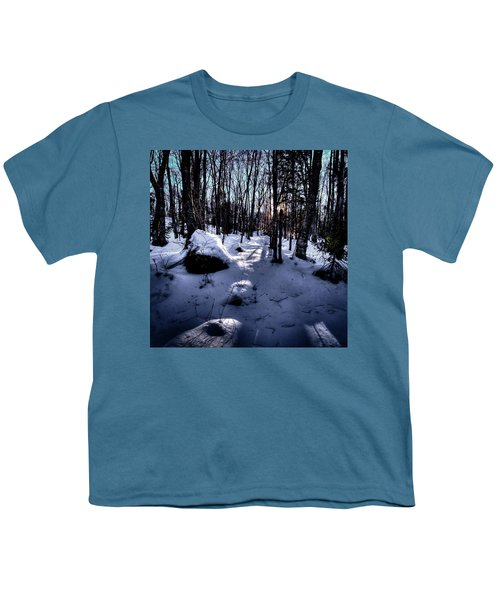 Youth T-Shirt featuring the photograph Winters Shadows by David Patterson