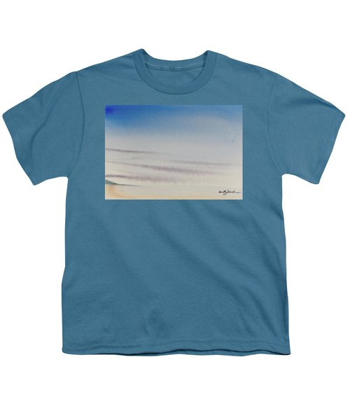 Wisps Of Clouds At Sunset Over A Calm Bay Youth T-Shirt