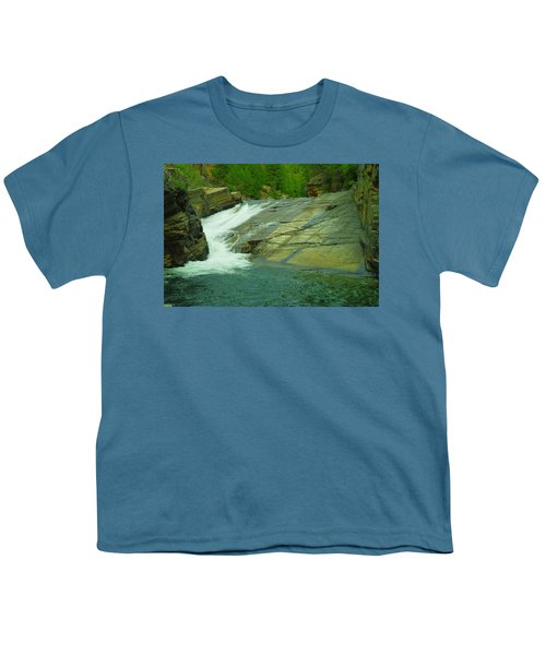 Yak Falls   Youth T-Shirt by Jeff Swan