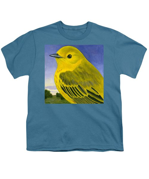 Yellow Warbler Youth T-Shirt by Francois Girard
