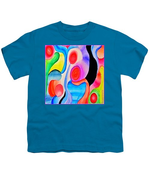 Abstract Peacock Youth T-Shirt