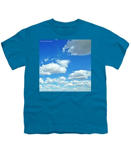 Blue Sky And White Clouds Youth T-Shirt
