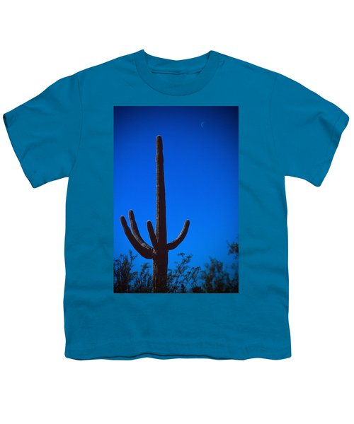 Cactus And Moon Youth T-Shirt