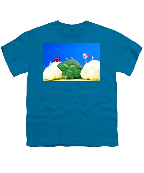 Farming On Broccoli And Cauliflower Youth T-Shirt by Paul Ge