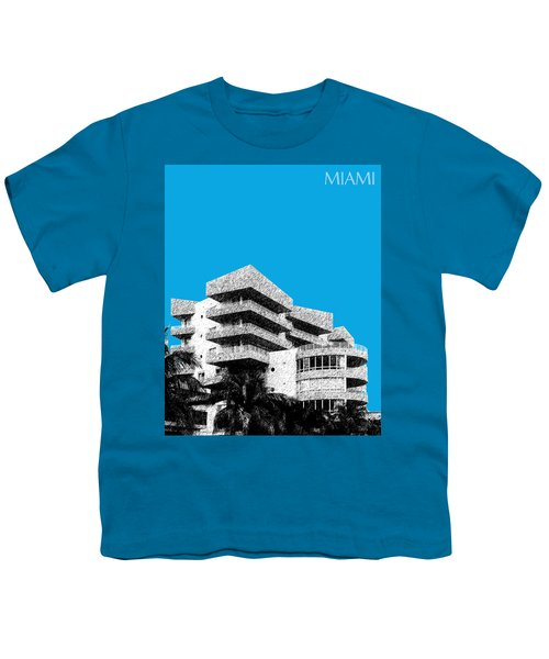 Miami Skyline Art Deco District - Ice Blue Youth T-Shirt
