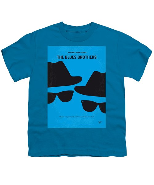 No012 My Blues Brother Minimal Movie Poster Youth T-Shirt by Chungkong Art