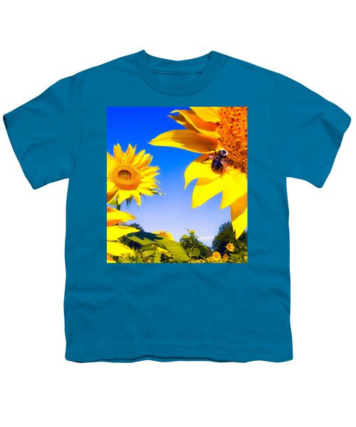 Summertime Sunflowers Youth T-Shirt