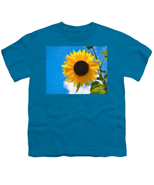 Sunflower And Bee At Work Youth T-Shirt