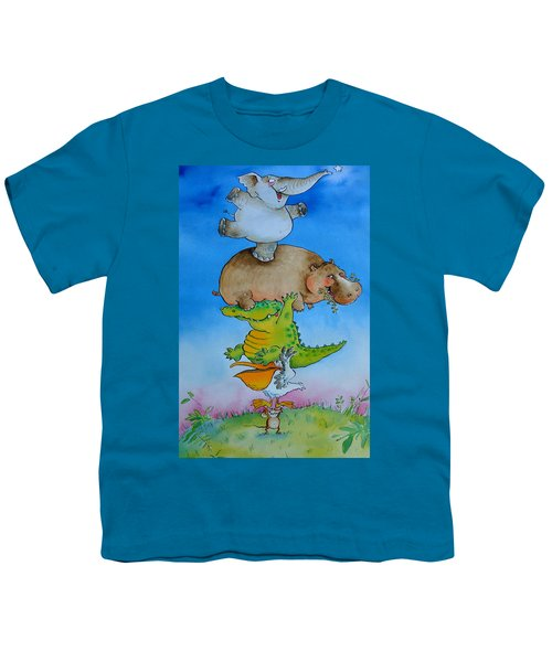 Super Mouse Pen & Ink And Wc On Paper Youth T-Shirt by Maylee Christie