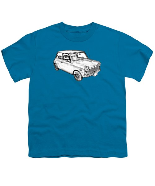 Mini Cooper Illustration Youth T-Shirt by Keith Webber Jr