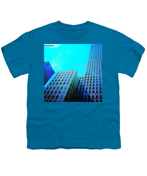 #blue #buildings And #bluesky On A Youth T-Shirt