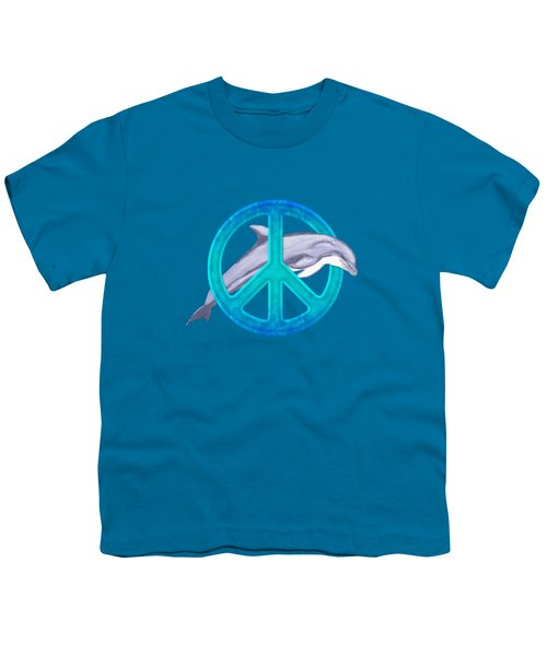 Dolphin Peace Youth T-Shirt by Chris MacDonald
