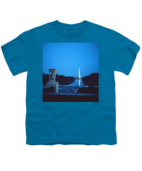 Night View Of The Washington Monument Across The National Mall Youth T-Shirt