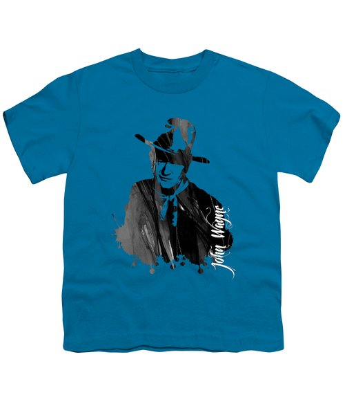 John Wayne Collection Youth T-Shirt by Marvin Blaine