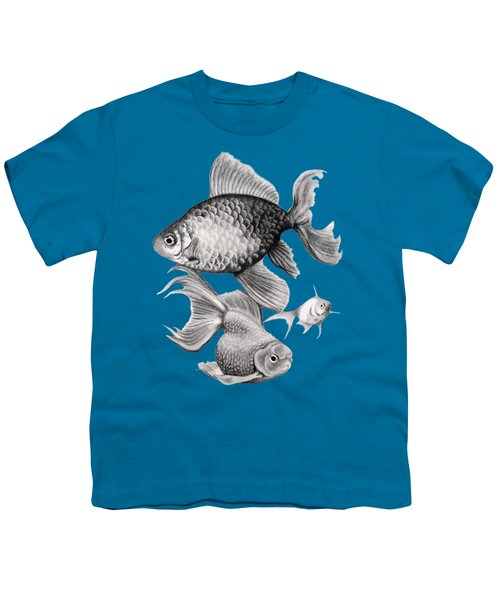 Goldfish Youth T-Shirt by Sarah Batalka