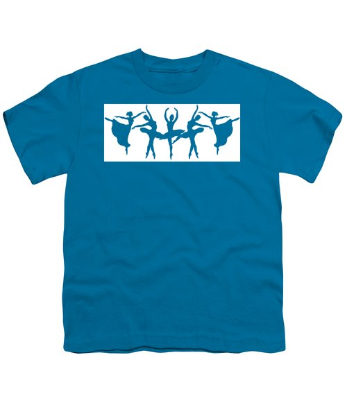 Ballerinas Dancing Silhouettes Youth T-Shirt