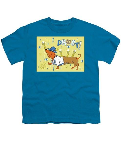 Beer Dachshund Dog Youth T-Shirt