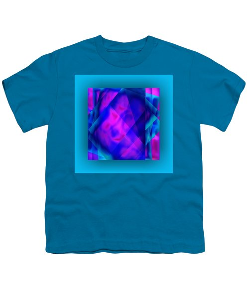 Youth T-Shirt featuring the digital art Blue Fashion by Mihaela Stancu