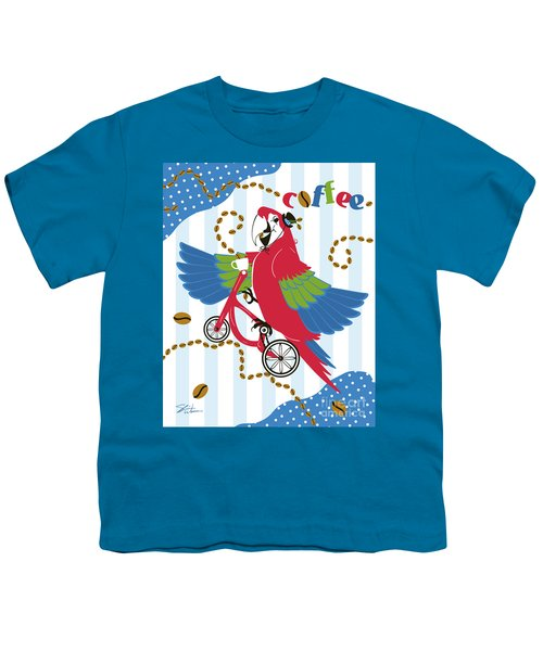 Coffee Parrot Youth T-Shirt