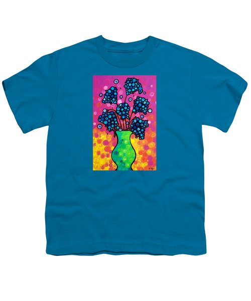 Colorful Flower Bouquet By Sharon Cummings Youth T-Shirt by Sharon Cummings
