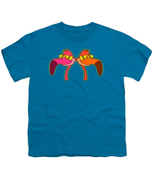 Cool As Flamingos Youth T-Shirt by Stephanie Brock