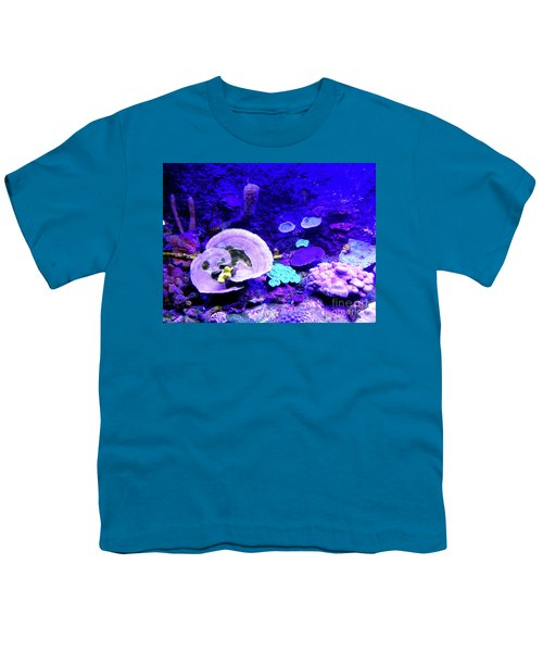 Youth T-Shirt featuring the digital art Coral Art by Francesca Mackenney