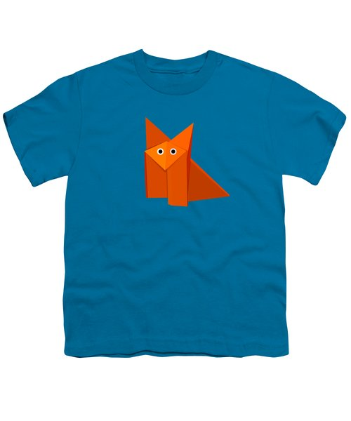 Cute Origami Fox Youth T-Shirt