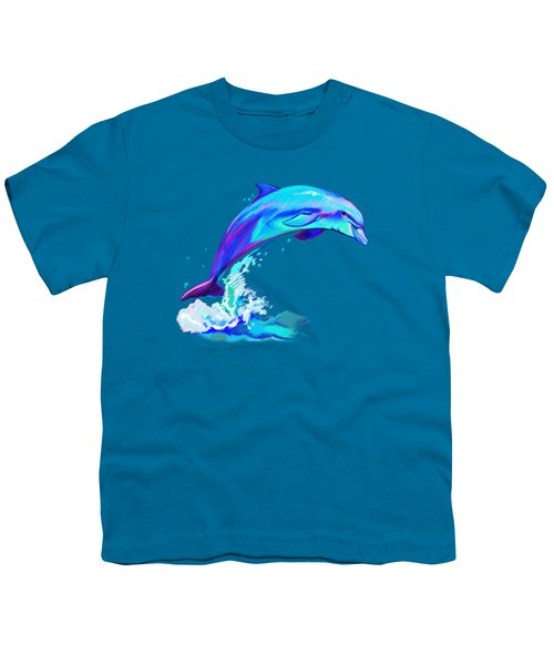 Dolphin In Colors Youth T-Shirt by A