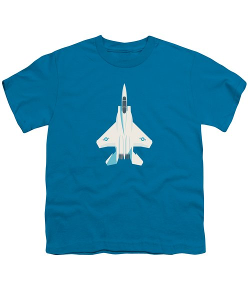 F15 Eagle Fighter Jet Aircraft - Blue Youth T-Shirt