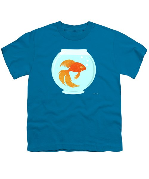 Goldfish Fishbowl Youth T-Shirt by Little Bunny Sunshine