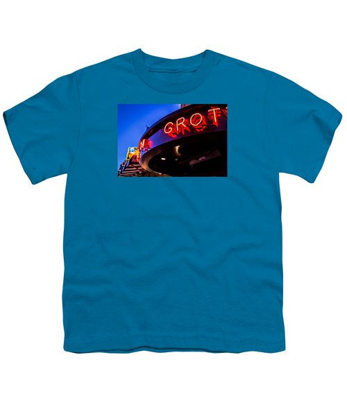 Youth T-Shirt featuring the photograph Grotto - Night View by Lora Lee Chapman