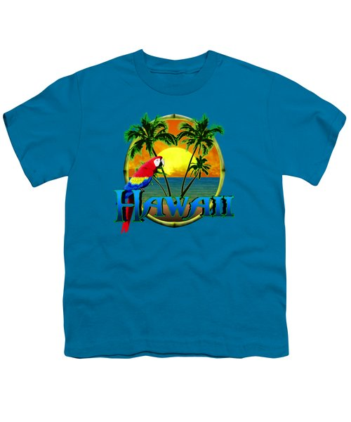 Hawaii Parrot Youth T-Shirt by Chris MacDonald