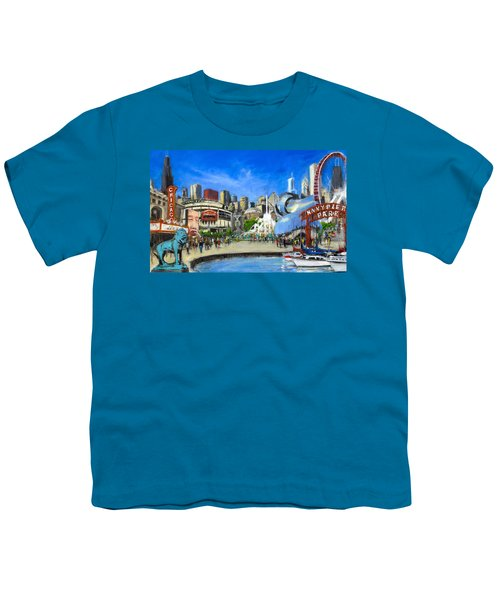 Impressions Of Chicago Youth T-Shirt by Robert Reeves