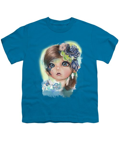 Indigo - Butterfly Keeper - Munchkinz By Sheena Pike  Youth T-Shirt by Sheena Pike