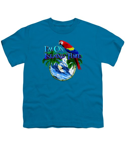 Island Time Surfing Youth T-Shirt by Chris MacDonald