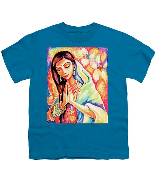 Youth T-Shirt featuring the painting Little Himalayan Pray by Eva Campbell