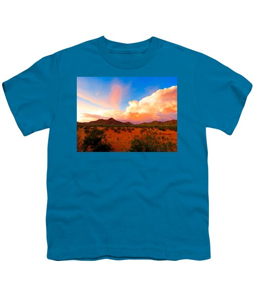 Monsoon Storm Sunset Youth T-Shirt