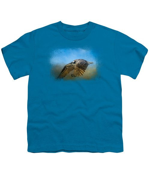 Osprey Over Pickwick Youth T-Shirt by Jai Johnson