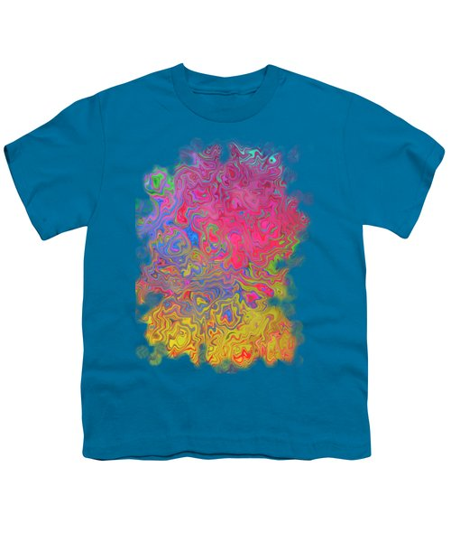 Psychedelic Laundry Transparent Design Youth T-Shirt by Shelly Weingart